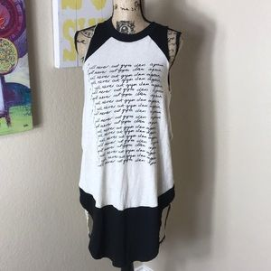 """Free People """"I will Never Cut Gym Again"""" Tunic"""